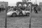 #6 Maserati Tipo 63 (Walt Hansgen and Bruce McLaren) in Scrutineering