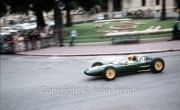 Formula 1 - #20 Lotus-Climax 24 (Trevor Taylor) in Casino Square - actually running with a BRM engine (upturned exhausts)