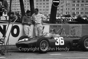 Formula 1 - Ricardo Rodriguez and Phil Hill with #36 Ferrari 156 (Phil Hill) in the pits
