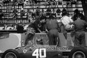 Formula 1 - Ferrari lass and #40 car (Ferrari 156) in the pits