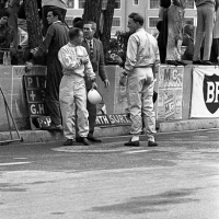 Formula 1 - Drivers in the pits before the race
