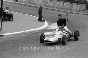 Formula Junior #124 Lotus 22 - Ford/Cosworth (Peter Ryan) giving a backie - winner of heat 2?