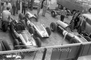 Formula 1 - Works Cooper Climaxes (#1 Jack Brabham, #2 Bruce McLaren, #3 Chuck Daigh)