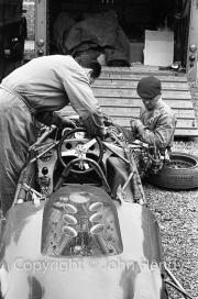 F1 car with bodywork off