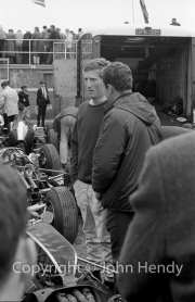 Driver in the paddock