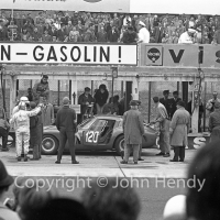 Nurburgring pits - #120 Ferrari 330 LM/GTO (Willy Mairesse / Mike Parkes)