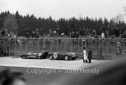 #76 MGA (Olthoff / Whitmore) and #73 Lotus 15 Climax (Graham / Martyn), both expired