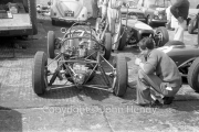 Formula 1 - Lotus 18 Climax FPF in the paddock (Innes Ireland, A Stacey or John Surtees' car)