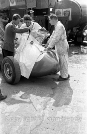 Formula 1 - Fuelling one of the Aston Martins, Brian Litt