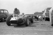 Formula 1 - #10 Lotus 18 Climax FPF in the paddock (Innes Ireland)