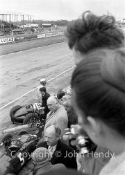 Formula 1 - Alfred Owen of BRM and #5 BRM P48, Graham Hill