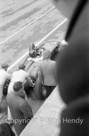 Formula 1 - #5 BRM P48, Graham Hill leaving the pits