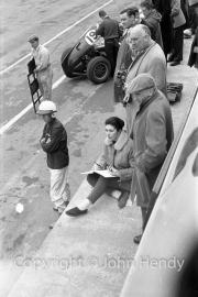 Formula 1 - BRM pits - Alfred Owen and Tony Brooks.