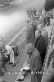 Formula 1 - BRM pits - Alfred Owen and Tony Brooks.