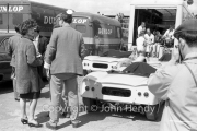 Sportscars - #14 Lotus 18 Climax, Henry Taylor, with a young lady standing by