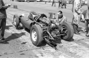 Formula 1 - unknown car, with the engine exposed