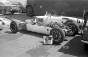 Formula Junior car with the engine exposed
