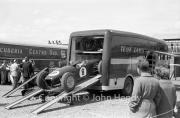 Formula 1 - #8 Lotus, Jim Clark, entering the transporter