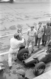 Graham Hill in the pits