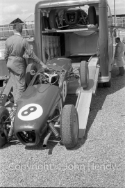 Formula 1 - #8 Lotus, Jim Clark, entering the transporter