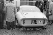 Sportscars - Rear of #30 Ferrari 250 GTO 3505GT MO75722 (Masten Gregory) in the paddock