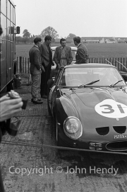 Sportscars - Mike Parkes and #31 Ferrari 250 GTO 3589GT MO75723 in the paddock