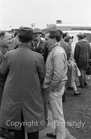 Innes Ireland in the paddock
