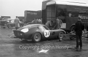 Sportscars - #31 Ferrari 250 GTO 3589GT MO75723 (Mike Parkes) in the paddock, with Maranello Concessionaires transporter