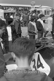 Sportscars - #34 Jaguar Mk II 3.8 (Roy Salvadori)? in the paddock