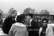 John Whitmore and Chris Barber in the paddock