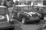 Touring cars - Mini Coopers #16 (Sir John Whitmore), #17 (J.Love)