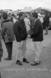 Drivers in the paddock