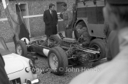 Formula 1 - #4 Lotus 25 - Climax FWMV V8, bodywork off in the paddock