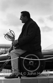 Jack Brabham with trophy
