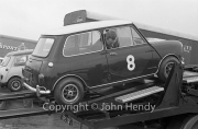 Touring Cars - #8 Mini Cooper (Paddy Hopkirk) on the transporter