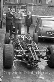 Formula 1 - Stripped down #9 Cooper T73 Climax (Bruce McLaren) and #10 F1 Cooper T66 Climax (Phil Hill)