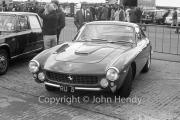 Ferrari road car in the paddock