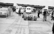 F1 car leaving the paddock