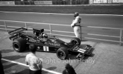 F1 - #1 Lotus-Cosworth 76 (Ronnie Petersen) leaving the pits