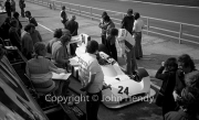 F1 - #24 Hesketh-Cosworth 308 (James Hunt) in the pits, with Lord Hesketh