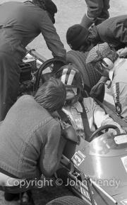 Formula Atlantic car in the pits