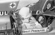 F1 - #10 BRM P260 (Henri Pescarolo) in the pits