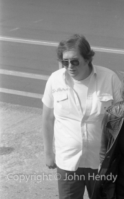 Lord Hesketh (Le Patron) in the pits