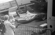 F1 - #10 BRM P260 (Henri Pescarolo) in the paddock
