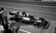 F1 - #22 Ensign-Cosworth (Brian Redman) leaving the pits