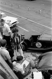 Team #7 Morgan - Car A Morgan Plus Four 1991cc, ER Duggan - and girl