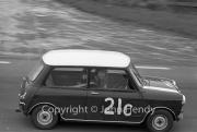 Team #21 Mini 7 Club A, Car C - Cooper-Mini 997cc John Whitmore/Steve McQueen pulling away