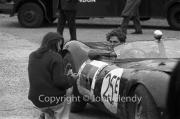 Team #25 Jaguar Drivers B, Car E - Lister-Jaguar, F.Fowler, and ladyfriend