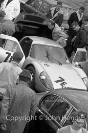 Team #7 GT Mixture, Car E - Porsche 904 (J.Morris) in the paddock