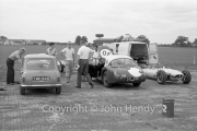 Whitmore and Mini and Formula Junior cars - #30 Lotus 20 - Ford/Cosworth (Brian Whitehouse) and #5 Cooper T56 - BMC (Tony Marsh)